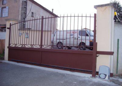 pose portail aluminium sur St marcellin en forez